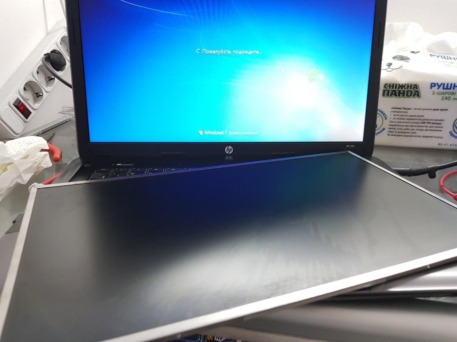 Замена матрицы (экрана) в ноутбуке HP 250 G1